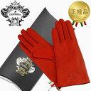 オロビアンコ 手袋 オロビアンコ OROBIANCO レザーグローブ レディース 手袋 ORL-1582 レッド Mサイズ:7.5(21cm) 羊革 ウール RED