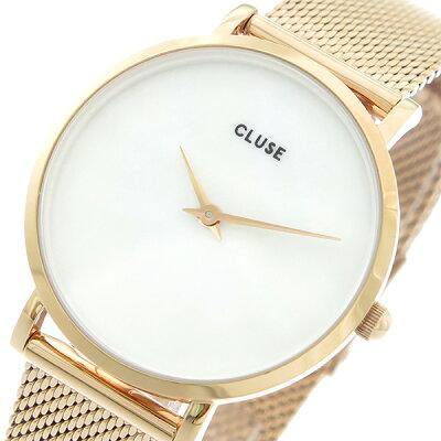 クルース CLUSE クオーツ レディース 腕時計 CL30047 ホワイトパール(天然石)/ピンクゴールド