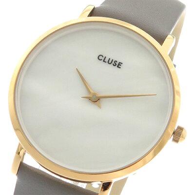 クルース CLUSE クオーツ レディース 腕時計 CL30049 ホワイトパール(天然石)/ストーングレー