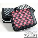 デイライト DAYLIGHT ブロックチェックウォレット コンパクト 短財布 二つ折り財布 3カラー メンズ レディース ブラック ホワイト グレー レッド おしゃれ