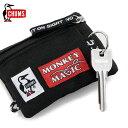 チャムス キーケース チャムス 21モンキーマジックキー コインケース (CHUMS CH60-3178)カードケース アウトドア スポーツ ランニング 自転車 キーホルダー 免許証サイズ 鍵 キーケース 21 Monkey Magic Key Coin Case)