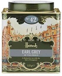 ハロッズ ハロッズ(Harrods) NO.42 アールグレイ ティーバッグ50個 缶入り(No. 42 Earl Grey (50 Tea Bags)) [海外直送品]