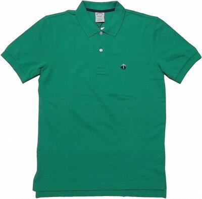 ブルックスブラザーズ ワンポイント 半袖 鹿の子 ポロシャツ グリーン Brooks Brothers POLO SHIRTS 022