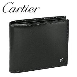 カルティエ 財布(レディース) カルティエ 折り財布小銭入れなし ブラック パシャ ドゥ カルティエ L3000220