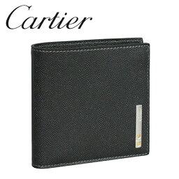カルティエ カルティエ 折り財布 ブラック(ONYX) サントス ドゥ L3000772