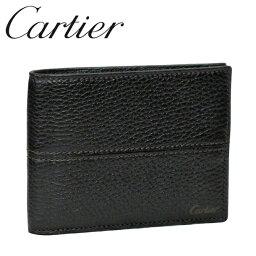 カルティエ カルティエ 折り財布 エボニー サドルステッチ L3001159