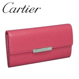 カルティエ 財布(レディース) カルティエ Cartier 長財布 レディース ピンク(FUCHSIA) ラブコレクション L3001376