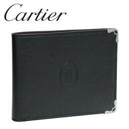 カルティエ カルティエ 折り財布小銭入れなし ブラック×ボルドー マスト ドゥ カルティエ L3001357