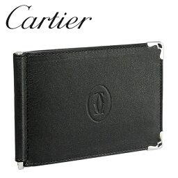カルティエ カルティエ 折り財布/マネークリップ ブラック×ボルドー マスト ドゥ カルティエ L3001371