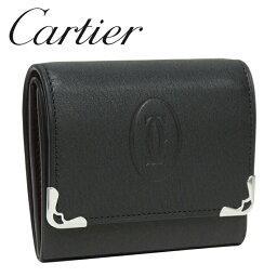 カルティエ カルティエ コインケース/小銭入れ ブラック×ボルドー マスト ドゥ カルティエ L3001372