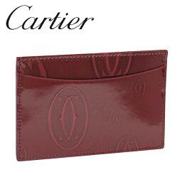 カルティエ 定期入れ 【新品】カルティエ パスケース カードケース [Cartier] ボルドー ハッピーバースデー L3001476 【ラッピング無料】【送料無料】【RCP】