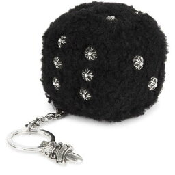クロムハーツ CHROME HEARTS FUZZY DICE SHEARLING KEY CHAIN クロムハーツ FUZZY DICE SHEARLING キーチェーン キーリング