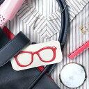 名入れ眼鏡ケース 【名入れ】メッセージが入る スリムメガネケース レッド PC眼鏡ケースの女性への贈り物