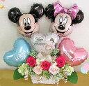 ディズニープリザーブドフラワー ディズニー バルーン電報 電報 結婚式 ディズニー 電報 結婚式 プリザーブドフラワー バルーン ミッキー ミニー かわいい 可愛い