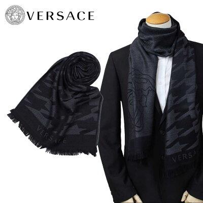 ベルサーチ VERSACE マフラー ヴェルサーチ メンズ ウール イタリア製 カジュアル ビジネス 0643