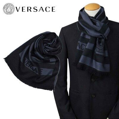 ベルサーチ マフラー ヴェルサーチ VERSACE メンズ ウール イタリア製 カジュアル ビジネス 0652 [12/22 再入荷]