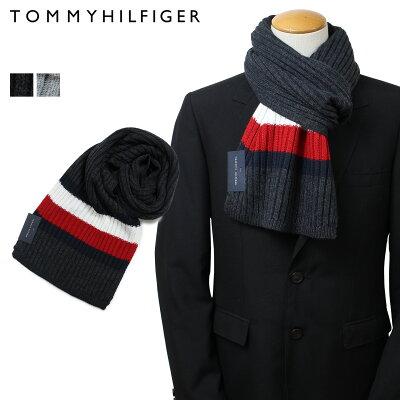 トミーヒルフィガー マフラー TOMMY HILFIGER メンズ グレー ライトグレー H8C83248 TH-F18-0048