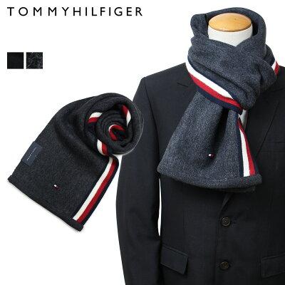 【最大2000円OFFクーポン】 トミーヒルフィガー マフラー TOMMY HILFIGER メンズ ブラック グレー H8C73607 TH-F17-0007