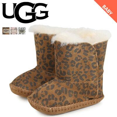 【最大2000円OFFクーポン】 UGG アグ ムートンブーツ ベビー キッズ カシー INFANTS CASSIE LEOPARD 1001781 シープスキン レオパード ベビー靴