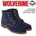 ウルヴァリン [最大2000円OFFクーポン] ウルヴァリン 1000マイル ブーツ WOLVERINE 1000MILE ワークブーツ メンズ 1000 MILE BOOT Dワイズ W40092 ネイビー