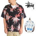 ステューシー STUSSY シャツ 半袖 メンズ Cactus Rayon (stussy shirt NOMA ノーマティーディー アロハシャツ オープンカラーシャツ カジュアルシャツ トップス 男性用 USAモデル ブラック ホワイト ボタンダウンシャツ