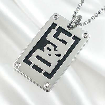 D&G/ドルチェ&ガッバーナ D&Gロゴプレートネックレス DJ0720 【Luxury Brand Selection】【メンズ ギフト】【ラッピング無料】【楽ギフ_包装】【05P03Dec16】