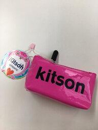 キットソン KITSON/キットソン  ミニポーチ ピンク×ブラック 【Luxury Brand Selection】【ラッピング無料】【楽ギフ_包装】【05P03Dec16】