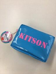 キットソン KITSON/キットソン  ポーチ ブルー×ピンク 【Luxury Brand Selection】【ラッピング無料】【楽ギフ_包装】【05P03Dec16】