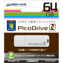 名入れUSBメモリー 【3万円以上送料無料】パソコンカテゴリのUSBメモリー ピコドライブN 64GB 卸売り/まとめ買い/まとめ売り