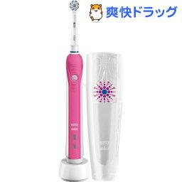 オーラルB ブラウン オーラルB 電動歯ブラシ PRO2000 プロヴァンスピンク D5015132XPKN(1台入)【ブラウン オーラルBシリーズ】