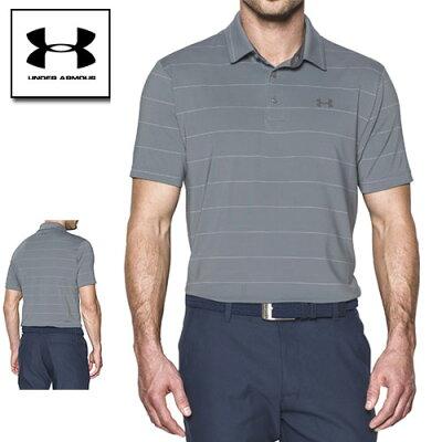 ポイントアップ 在庫処分セール アンダーアーマー メンズ ポロシャツ ゴルフ ヒートギア(夏用) 紫外線対策 UNDER ARMOUR プレイオフポロ〔1253479〕