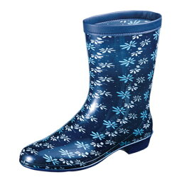 ムーンスター MoonStar(ムーンスター) レディース用雨長靴 ラベリア09 ネービー