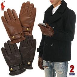 bd4fc3042765 ラルフローレン 手袋(メンズ) ラルフローレン 手袋 スマホ対応 メンズ レザー POLO RALPH LAUREN