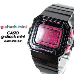 カシオ G-SHOCK 腕時計(レディース) ★送料無料★★国内正規品★ 【g-shock mini】 G-ショック ミニ GMN-550-1BJR / Black×Pink 女性用 レディース 腕時計 CASIO G-SHOCK g-shock Gショック