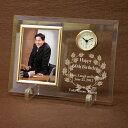 置き時計 【オリジナル時計】「ガラス製フォトフレーム置き時計」/ ガラス印刷 内祝い・出産内祝い・結婚内祝い・贈り物・新築祝い・引越祝い・出産内祝い・敬老の日(Respect for the Aged Day)【RCP】