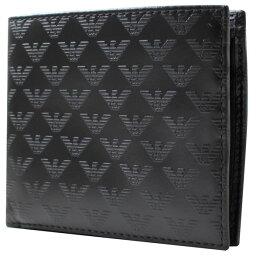 アルマーニ エンポリオアルマーニ EMPORIO ARMANI 二つ折り財布 2つ折り財布 メンズ イーグルマーク型押し YEM122 YC043 80001//YEM122-043-80001【新品】