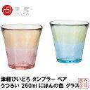 タンブラーグラス 津軽びいどろ タンブラー ペア うつろい 260ml にほんの色 グラス 日本製 FS-71575|おしゃれ かわいい ビールグラス ビアグラス タンブラー ガラス フリーグラス ガラスコップ ギフト 贈り物 ドリンク