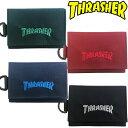THRASHER Mini Wallet スラッシャー ミニウォレット 小銭入れ付きミニ財布。折りたたみ式コンパクト、丈夫で便利な小型財布はキャッシュレスにもぴったり。スケボーブランド