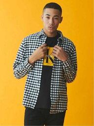 カルバン・クライン 【SALE/30%OFF】Calvin Klein Jeans (M)CALVIN KLEIN 【カルバン クライン ジーンズ】 メンズ ロゴ シャツ ビジネス カジュアル 綿 コットン AD-BUFFALO CHECK BRU J313340 カルバン・クライン シャツ/ブラウス 長袖シャツ ブラック ネイビー【送料無料】