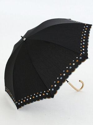 ドット刺繍晴雨兼用長傘 日傘 アフタヌーンティー・リビング ファッショングッズ【送料無料】