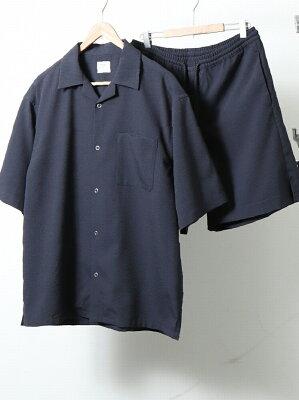 coen 【WEB限定】UVカットシアサッカーオープンカラーシャツサマーセットアップ(セット商品) コーエン シャツ/ブラウス【送料無料】