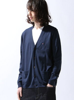 TOMMY HILFIGER (M)Hilfiger Denim/オリジナルVネックカーディガン トミーヒルフィガー ニット【送料無料】