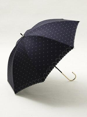 スカラップハート晴雨兼用長傘 日傘 アフタヌーンティー・リビング ファッショングッズ