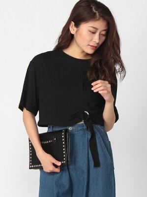 【SALE/40%OFF】ANAP ANAPベルトデザインクロップドTシャツ アナップ カットソー【RBA_S】【RBA_E】