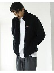 ビームス BEAMS MEN DANTON / High Pile Fleece Stand Collar Jacket ビームス メン カットソー スウェット ブラック【送料無料】