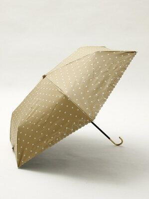 スカラップハート晴雨兼用折りたたみ傘 日傘 アフタヌーンティー・リビング ファッショングッズ