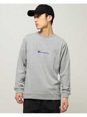 BEAMS MEN 【別注】 Champion × BEAMS / ロングスリーブ ロゴTシャツ ビームス メン カットソー【送料無料】