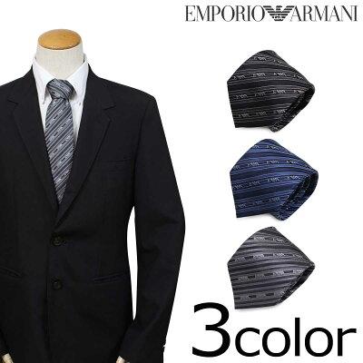 EMPORIO ARMANI エンポリオ アルマーニ ネクタイ イタリア製 シルク ビジネス 結婚式 メンズ [2/7 追加入荷]