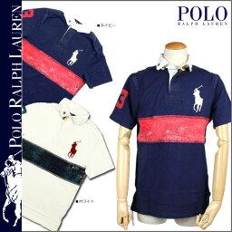 ラルフローレン ポロ ラルフローレン POLO by RALPH LAUREN ポロシャツ ネイビー ホワイト 0463992 ビッグ ポニー コットン メンズ