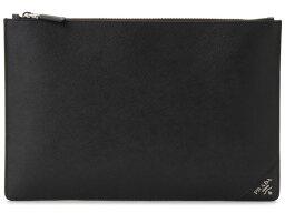 セカンドバッグ プラダ PRADA クラッチバッグ 2NG001-QME-F0002 SAFFIANO ブラック ビジネスバッグ/セカンドバッグ